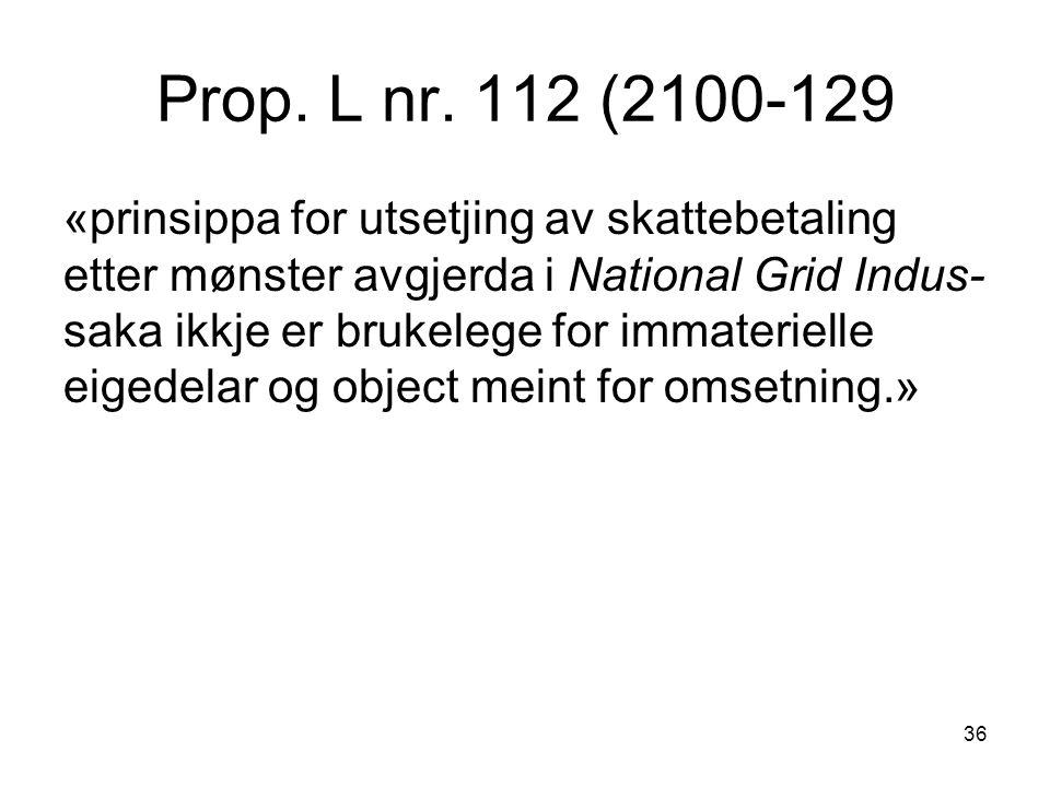Prop. L nr. 112 (2100-129