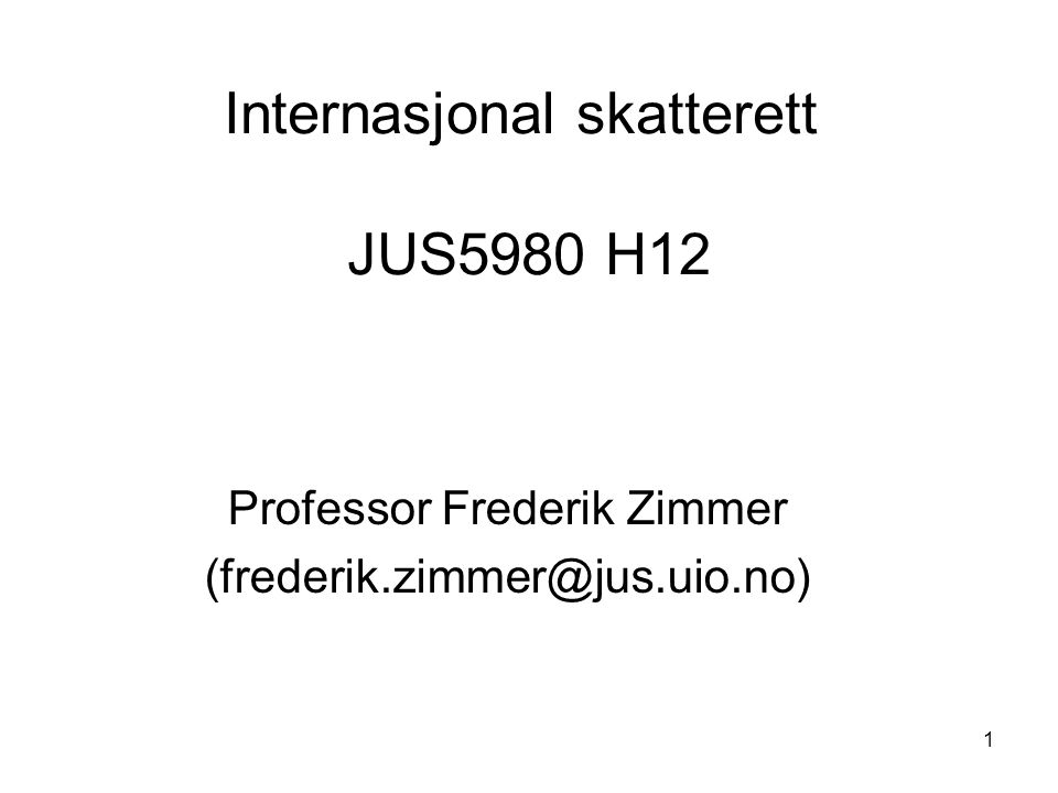 Internasjonal skatterett JUS5980 H12