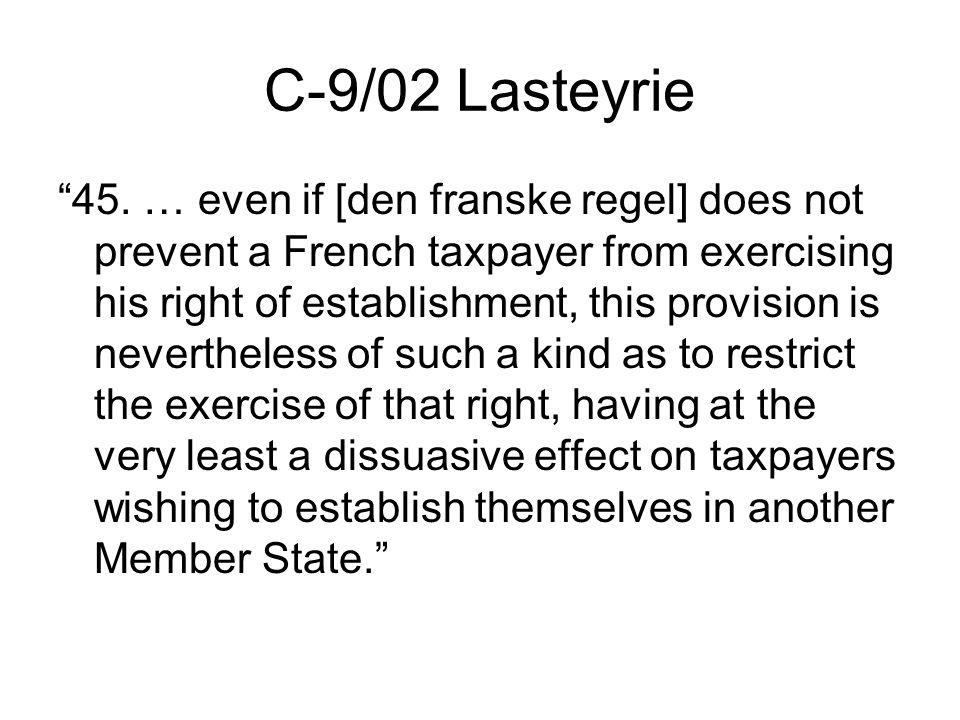C-9/02 Lasteyrie