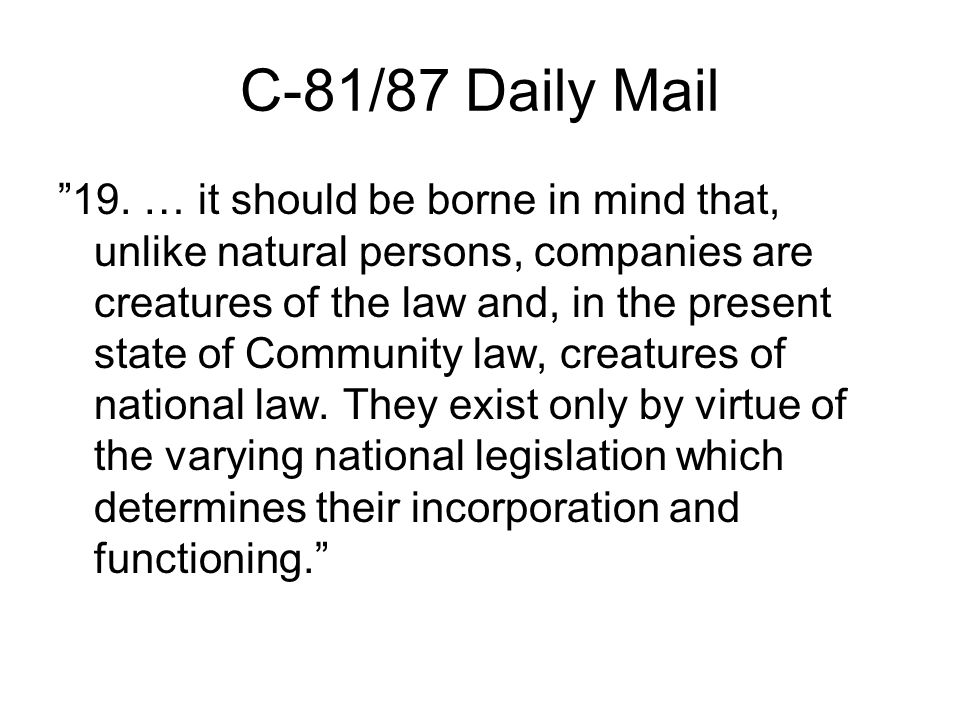 C-81/87 Daily Mail