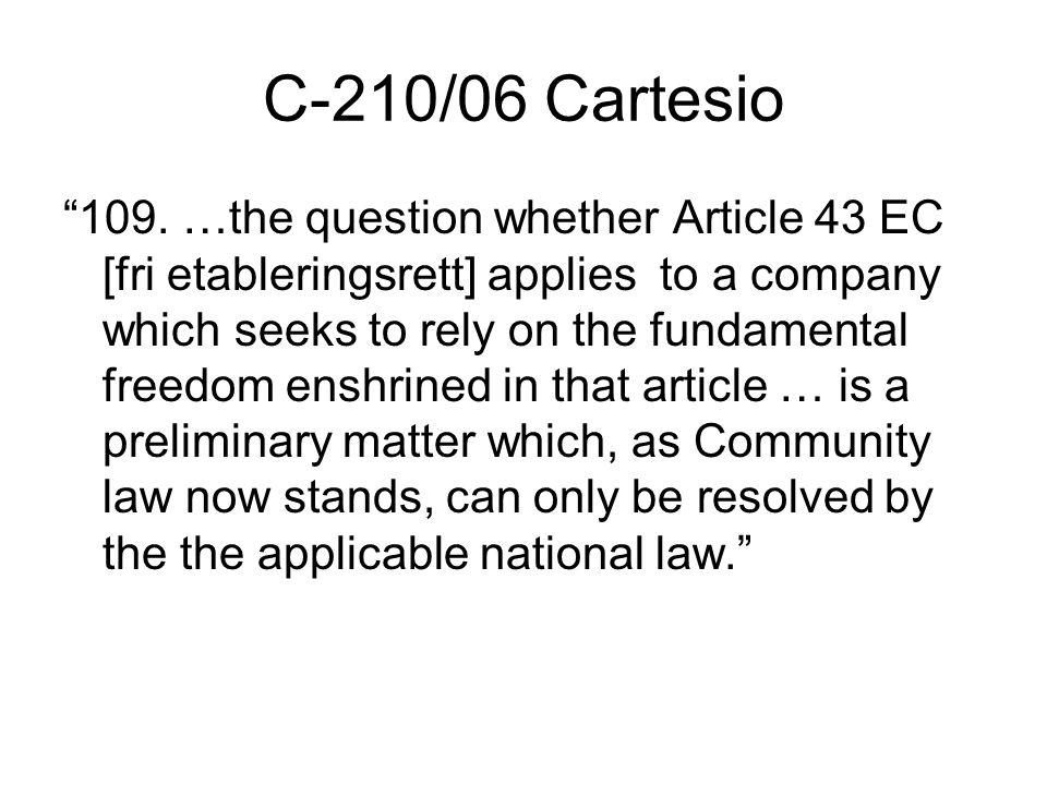C-210/06 Cartesio