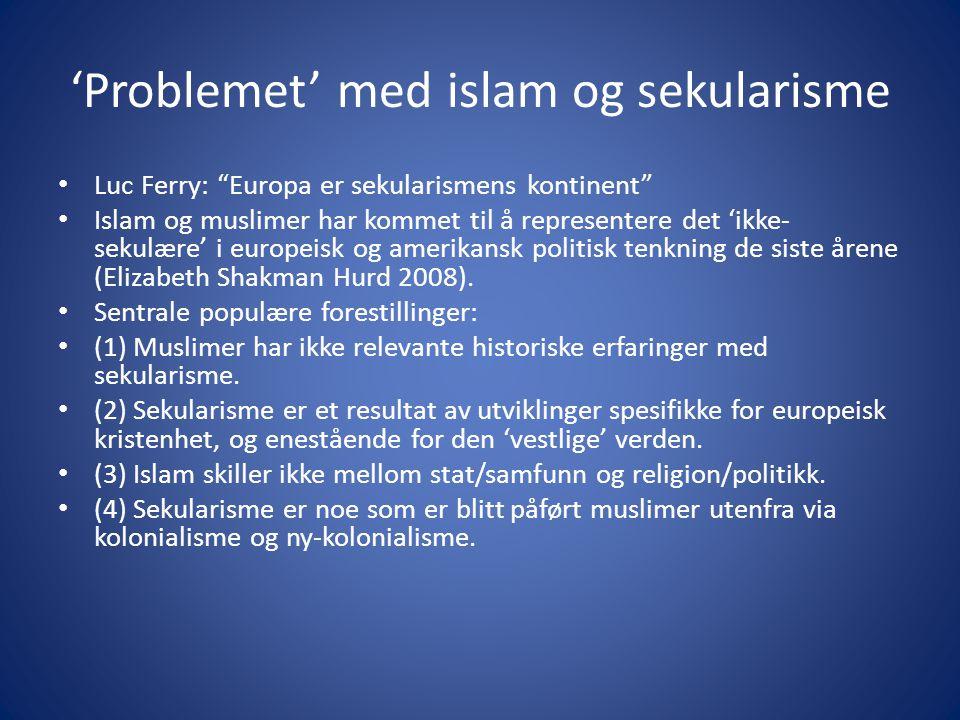 'Problemet' med islam og sekularisme