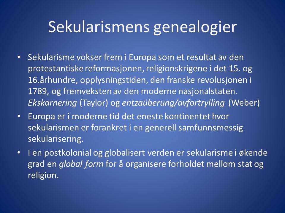 Sekularismens genealogier