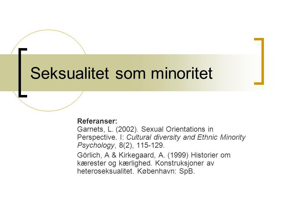 Seksualitet som minoritet