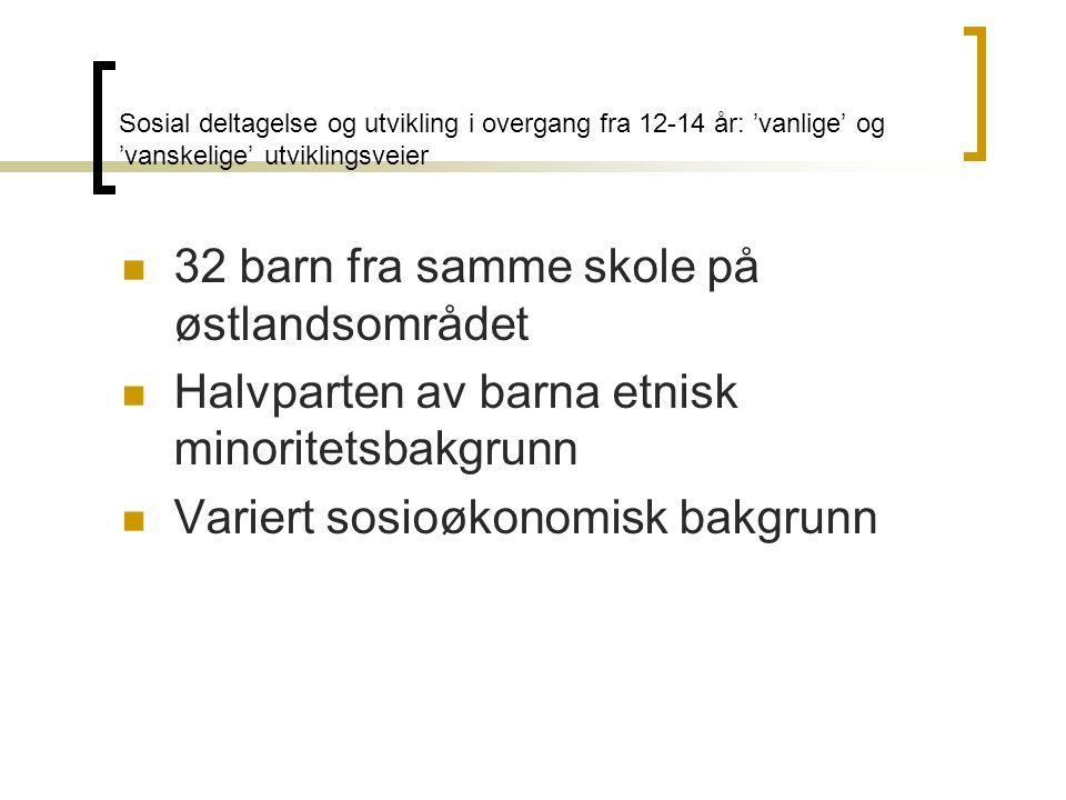 32 barn fra samme skole på østlandsområdet