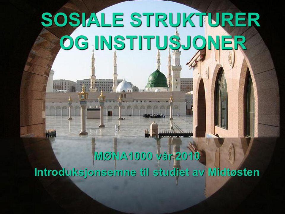 MØNA1000 vår 2010 Introduksjonsemne til studiet av Midtøsten