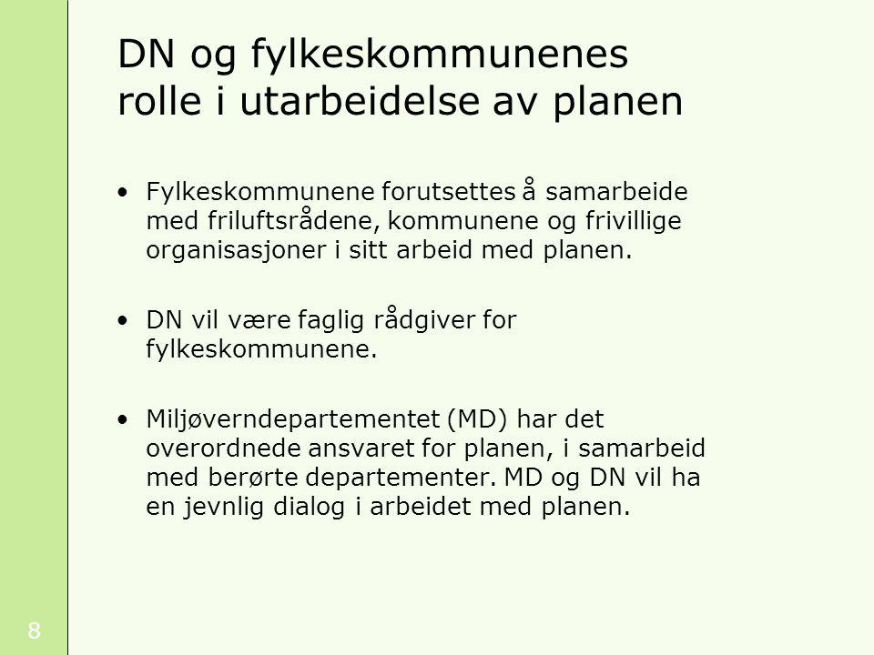 DN og fylkeskommunenes rolle i utarbeidelse av planen