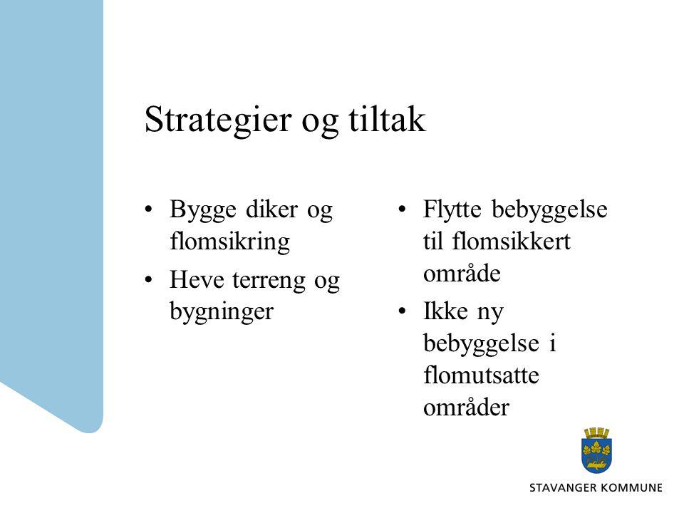 Strategier og tiltak Bygge diker og flomsikring