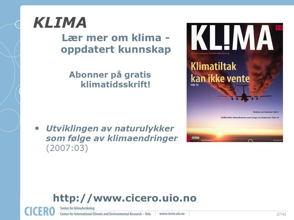 Abonner på gratis klimatidsskrift!