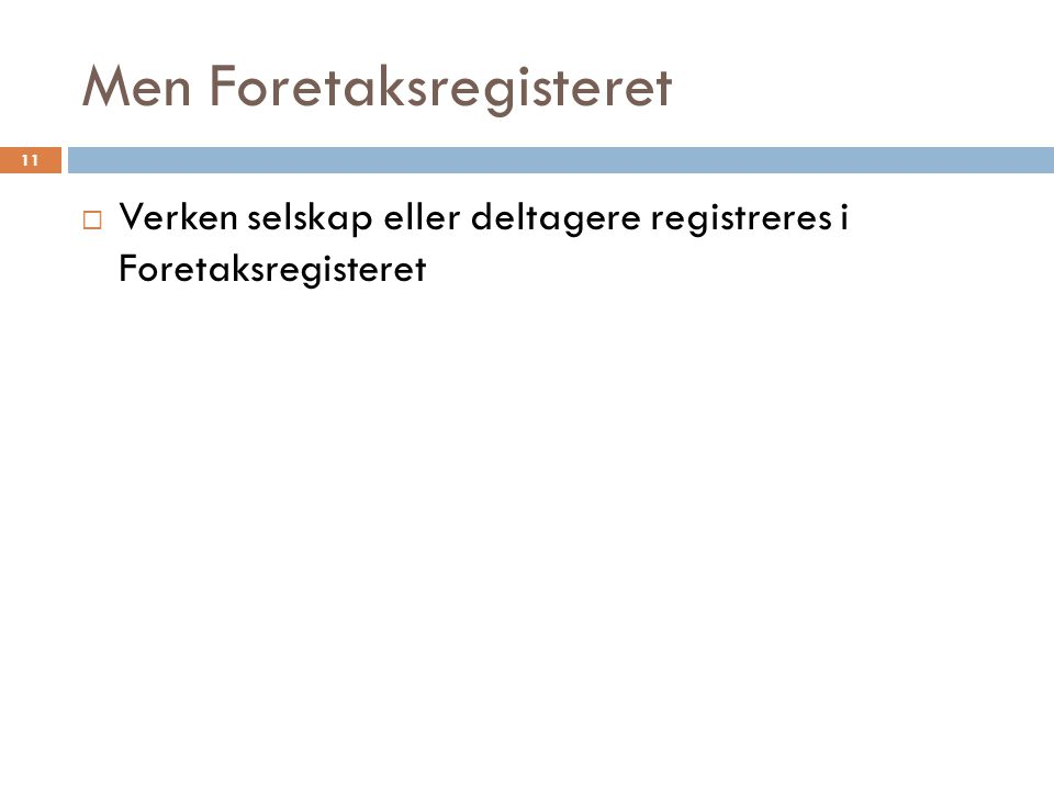 Men Foretaksregisteret