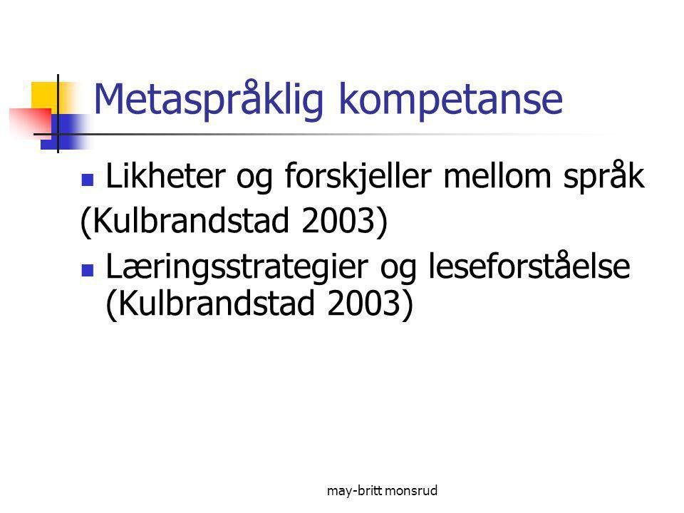 Metaspråklig kompetanse