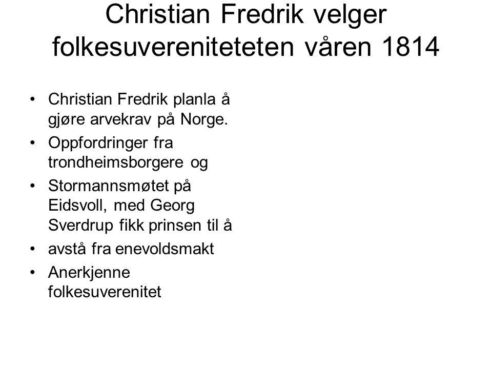 Christian Fredrik velger folkesuvereniteteten våren 1814