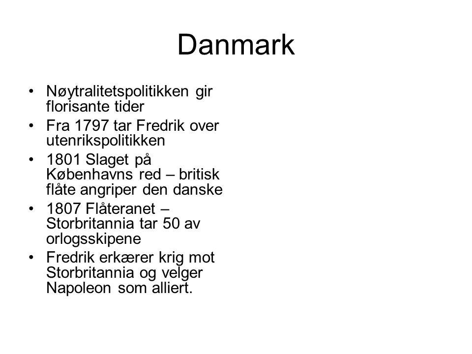 Danmark Nøytralitetspolitikken gir florisante tider