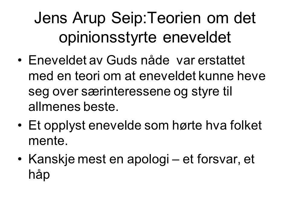 Jens Arup Seip:Teorien om det opinionsstyrte eneveldet