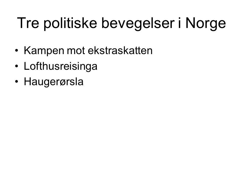 Tre politiske bevegelser i Norge
