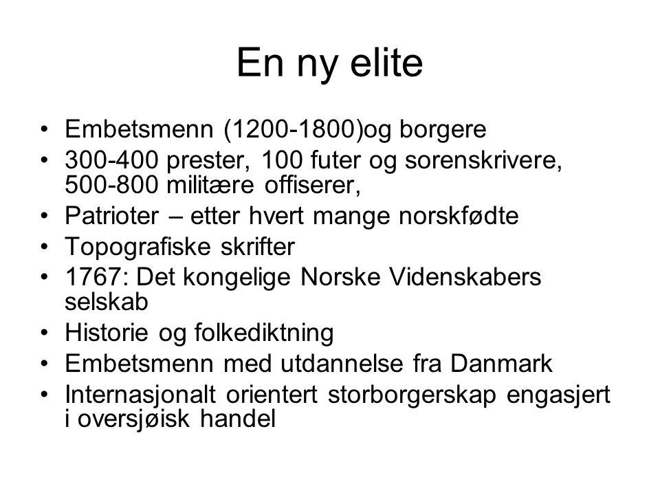 En ny elite Embetsmenn (1200-1800)og borgere