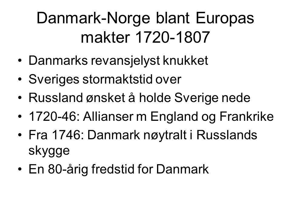 Danmark-Norge blant Europas makter 1720-1807