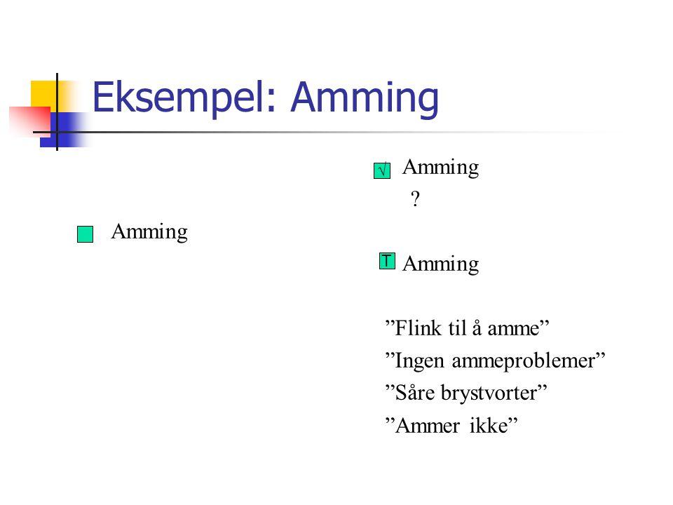 Eksempel: Amming Amming Amming Flink til å amme
