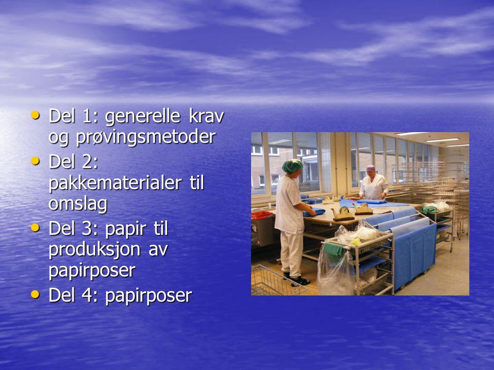 Del 1: generelle krav og prøvingsmetoder