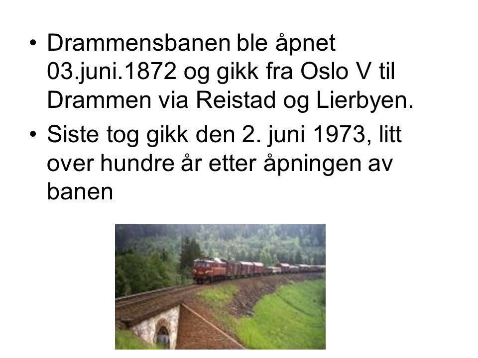 Drammensbanen ble åpnet 03. juni