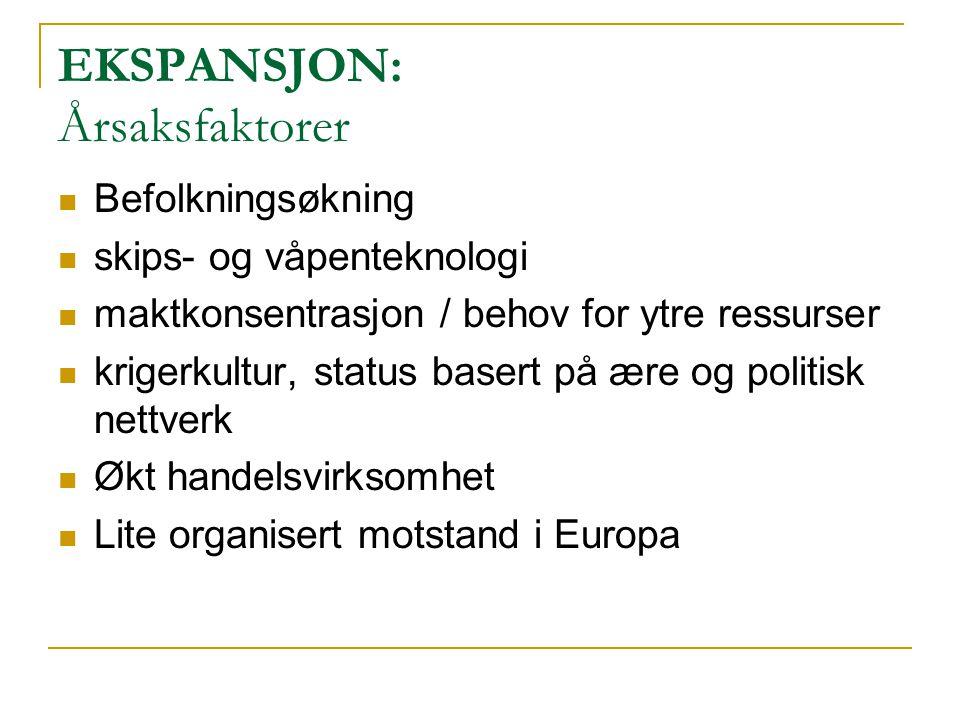 EKSPANSJON: Årsaksfaktorer