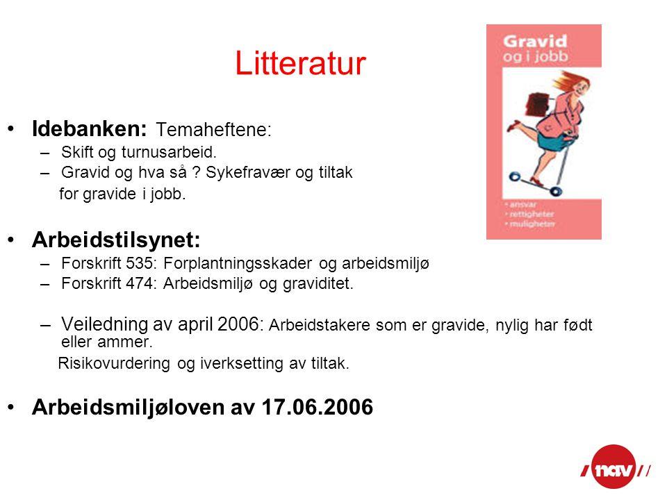 Litteratur Idebanken: Temaheftene: Arbeidstilsynet: