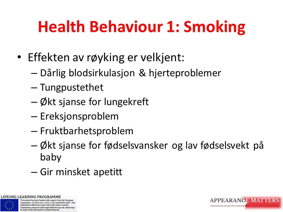 Health Behaviour 1: Smoking