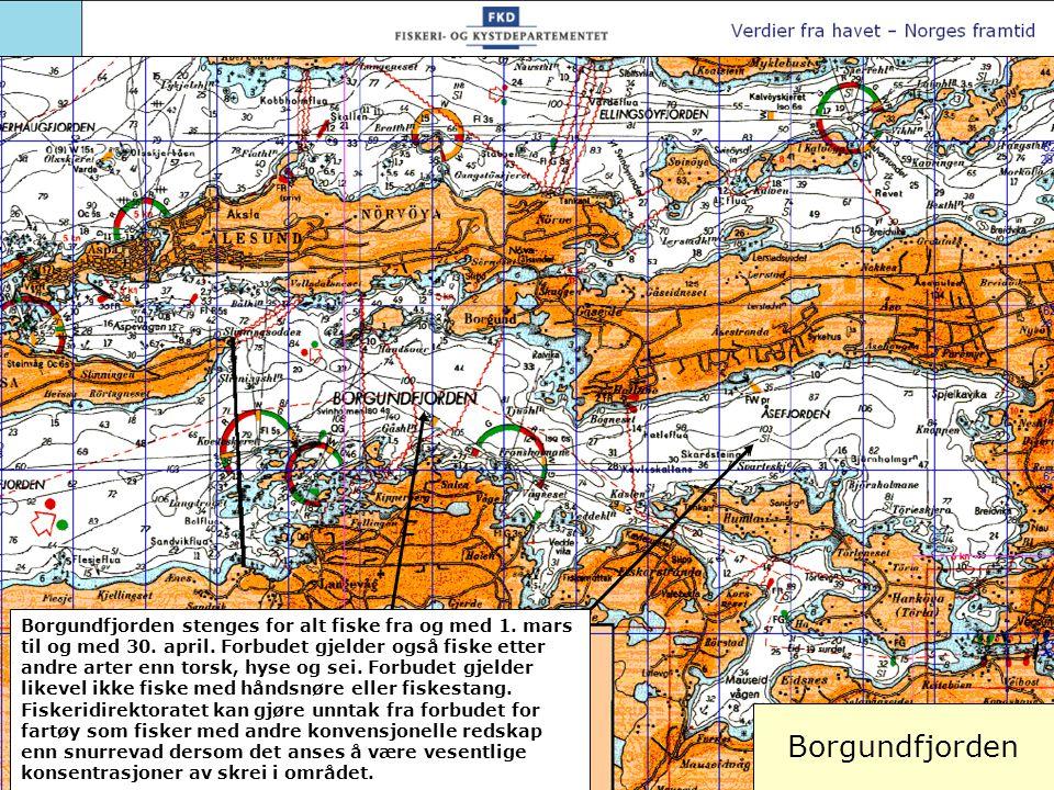 Borgundfjorden stenges for alt fiske fra og med 1. mars til og med 30