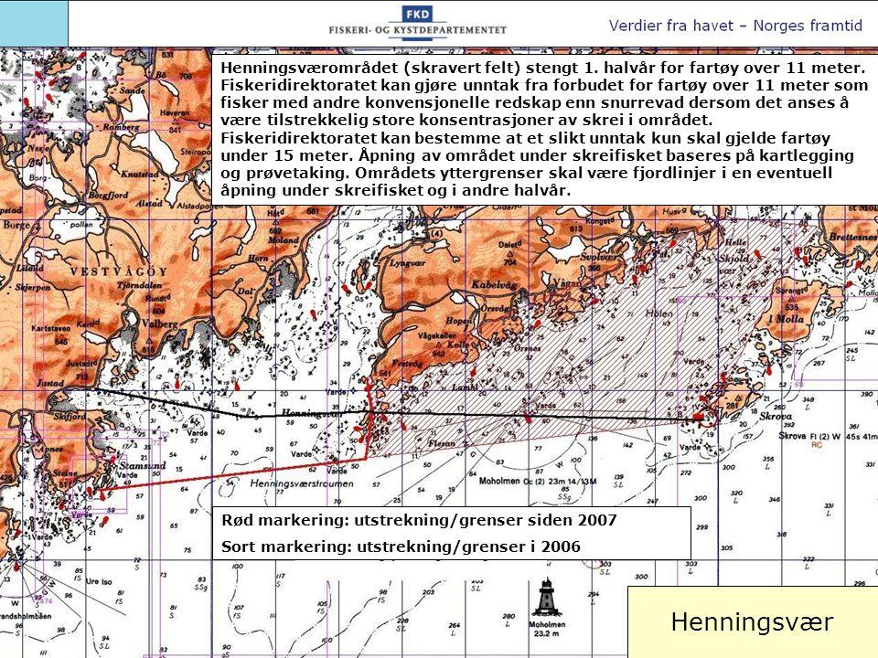 Henningsværområdet (skravert felt) stengt 1
