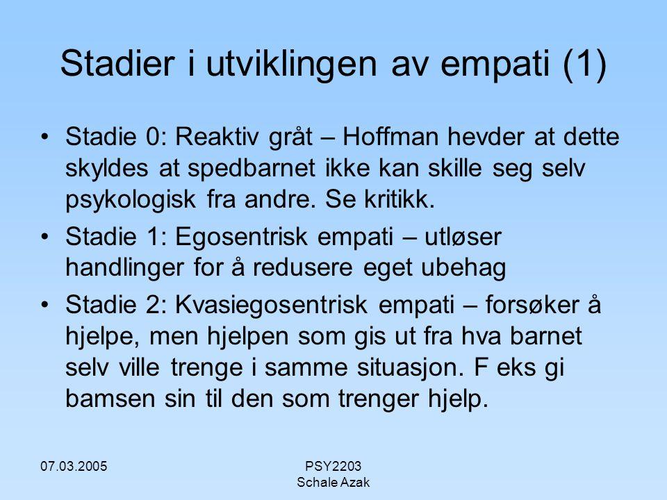Stadier i utviklingen av empati (1)