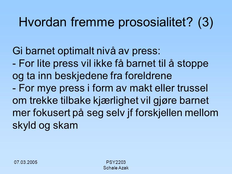 Hvordan fremme prososialitet (3)