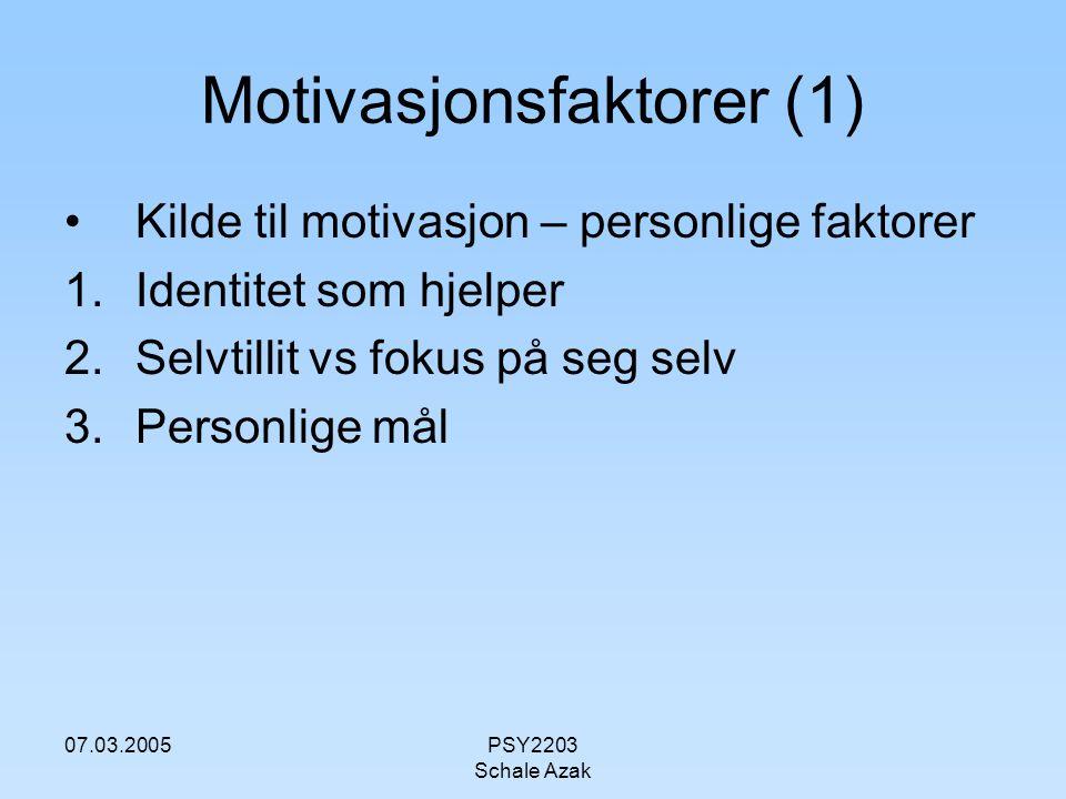 Motivasjonsfaktorer (1)