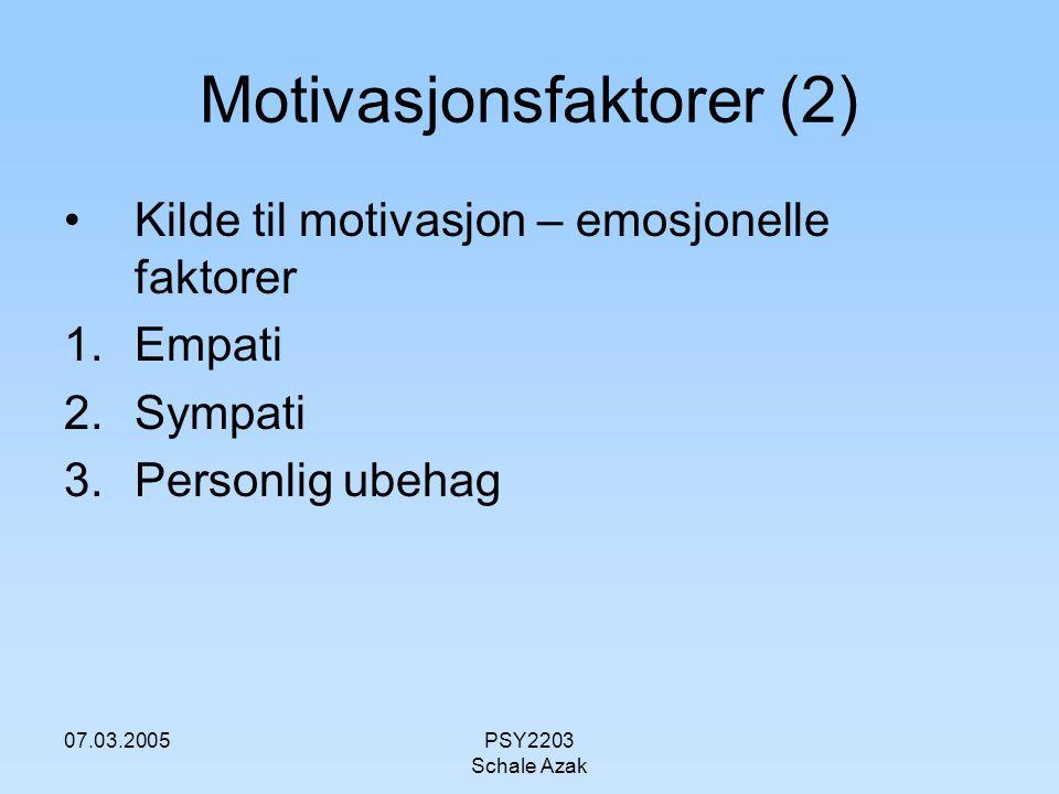 Motivasjonsfaktorer (2)