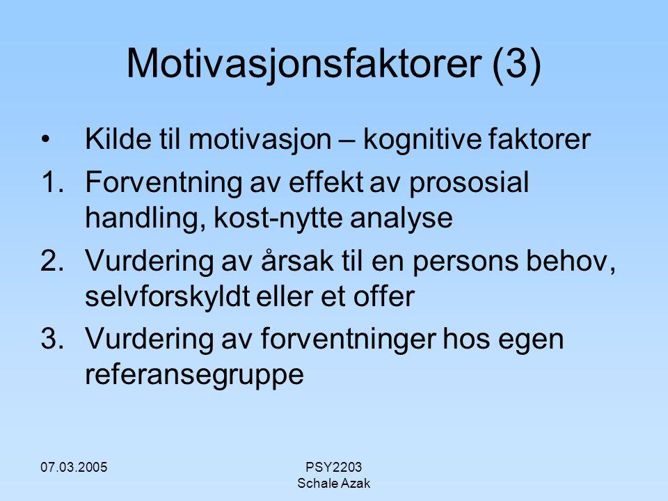 Motivasjonsfaktorer (3)