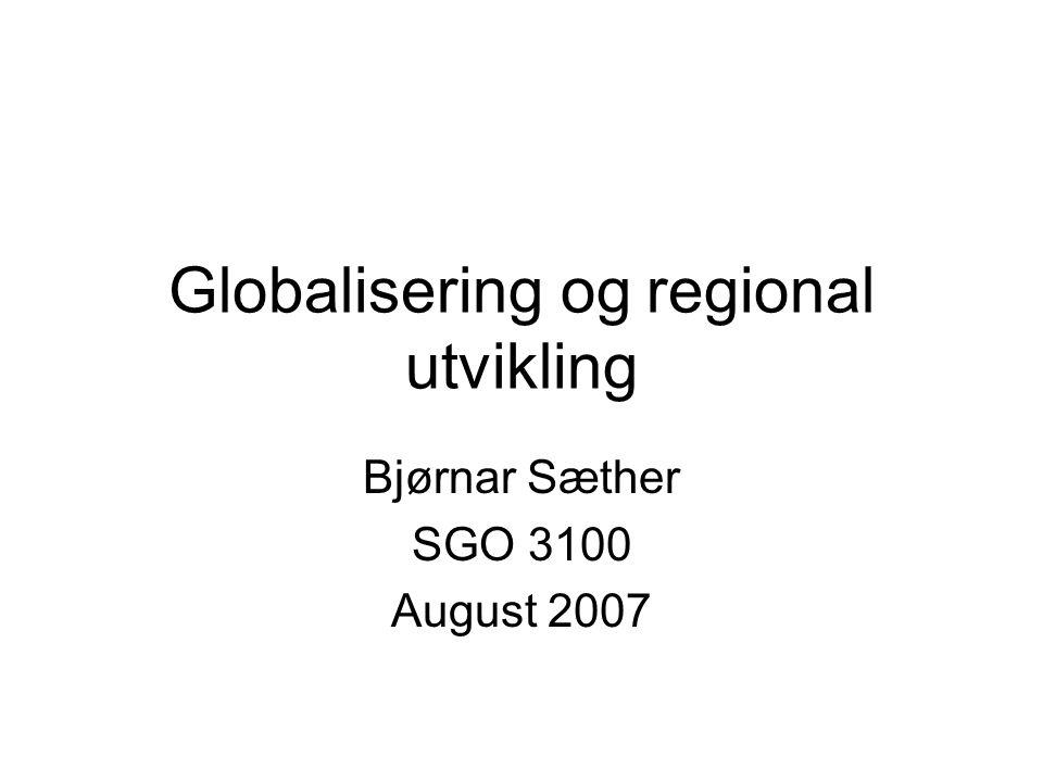Globalisering og regional utvikling