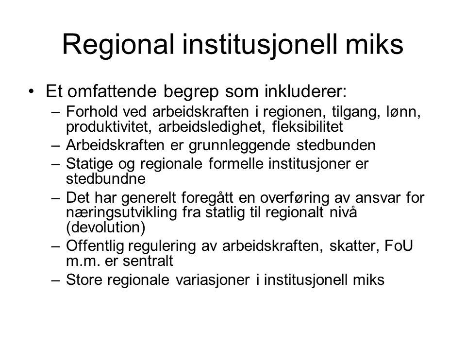 Regional institusjonell miks