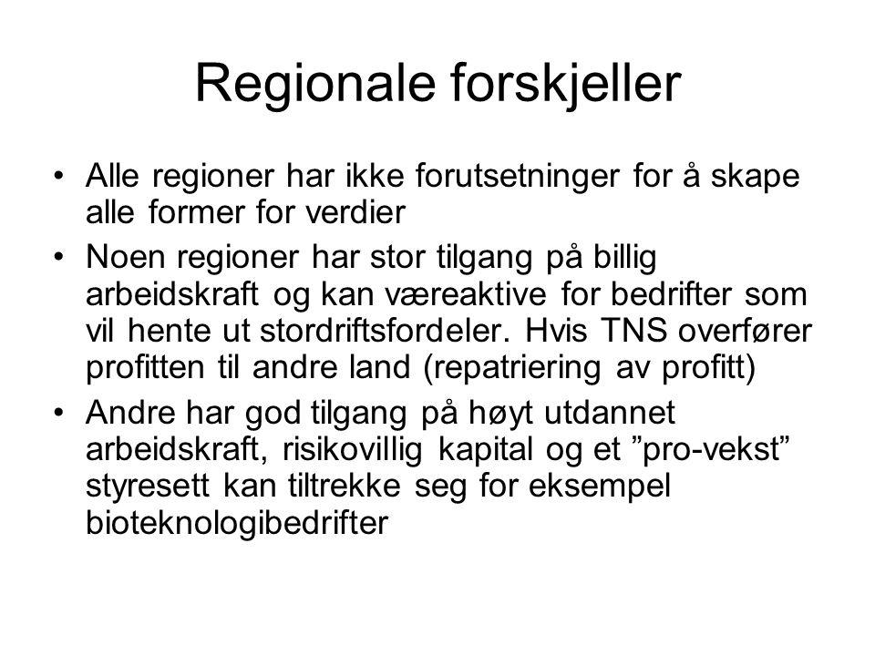 Regionale forskjeller