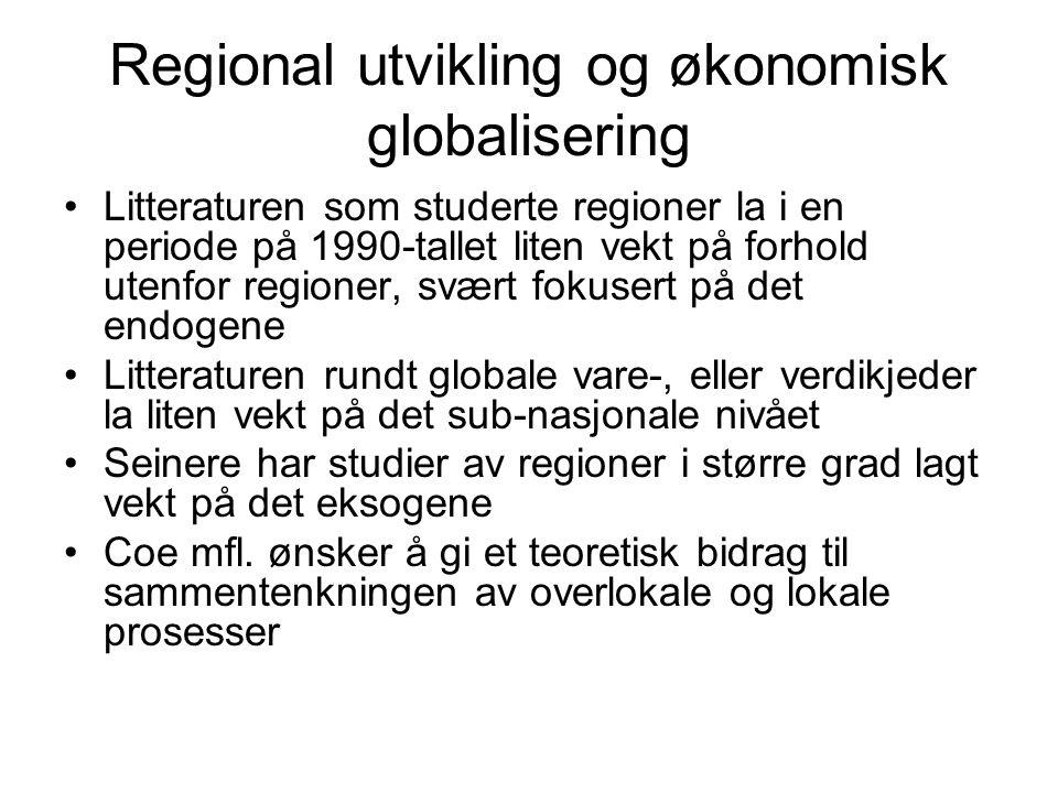 Regional utvikling og økonomisk globalisering