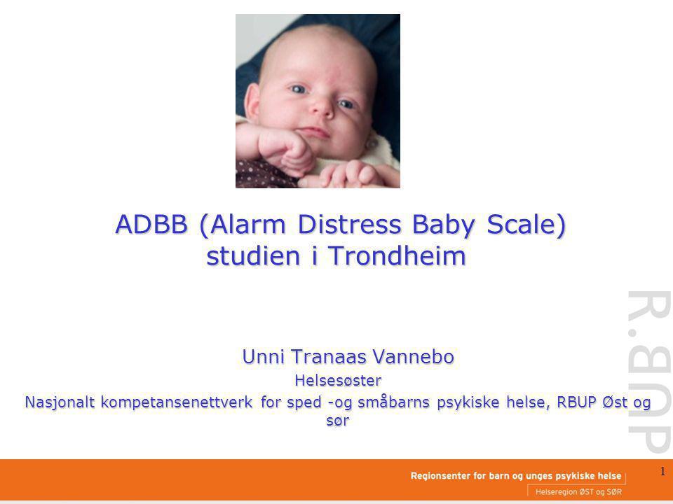 ADBB (Alarm Distress Baby Scale) studien i Trondheim