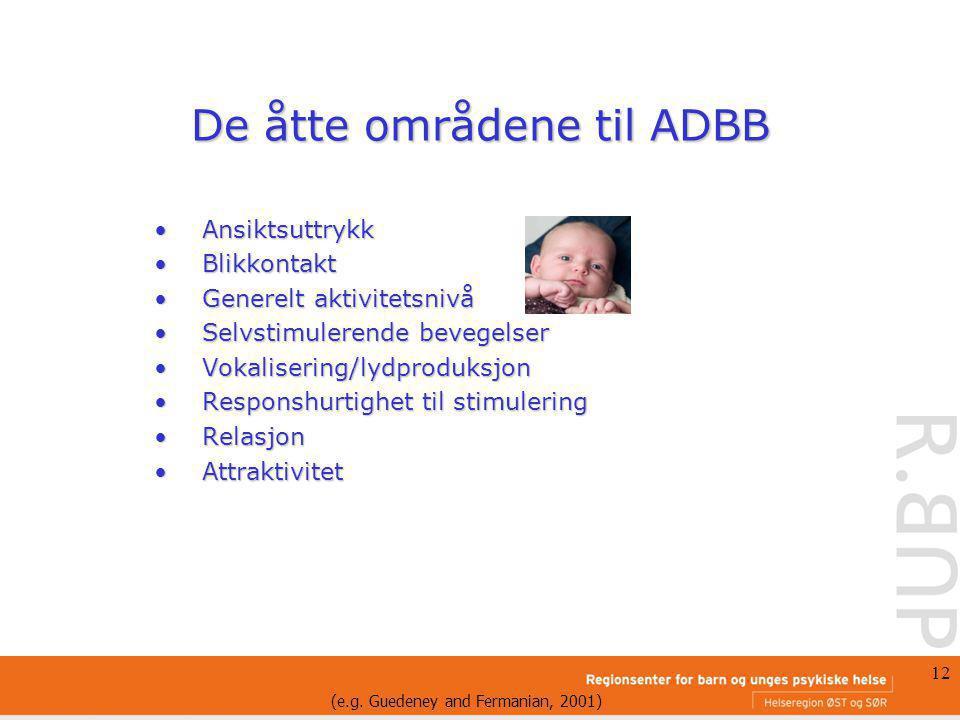 De åtte områdene til ADBB