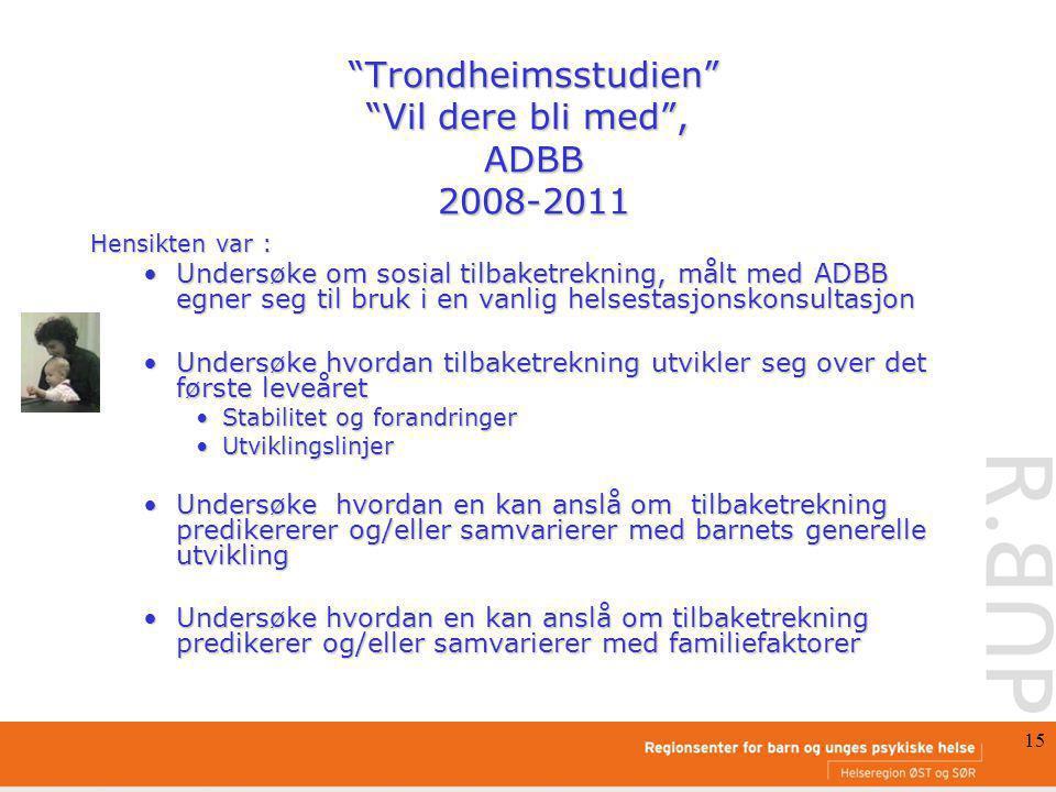 Trondheimsstudien Vil dere bli med , ADBB 2008-2011
