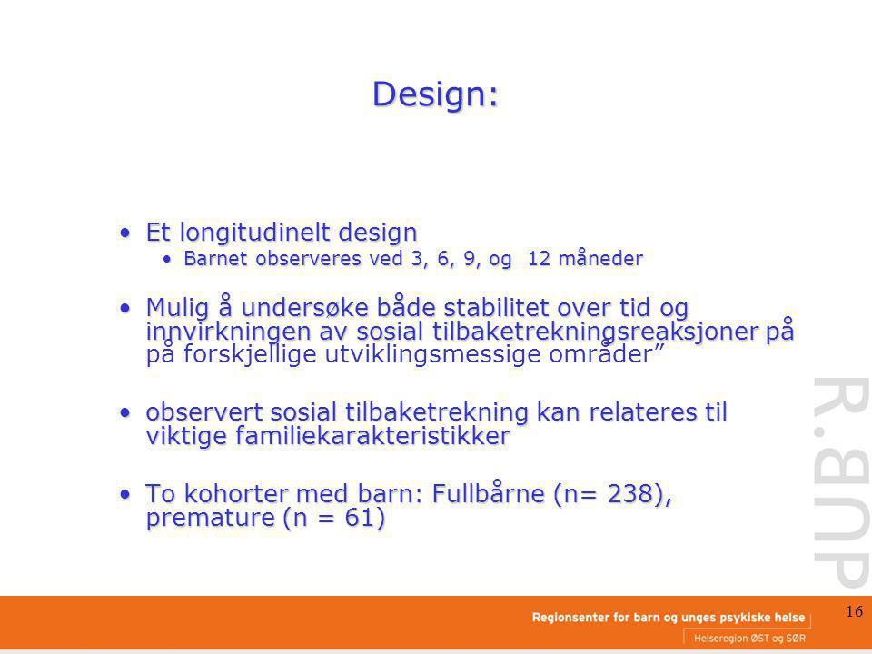 Design: Et longitudinelt design