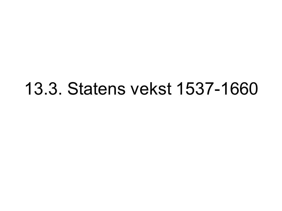 13.3. Statens vekst 1537-1660