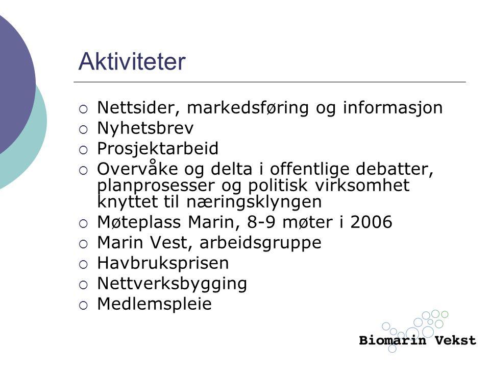 Aktiviteter Nettsider, markedsføring og informasjon Nyhetsbrev