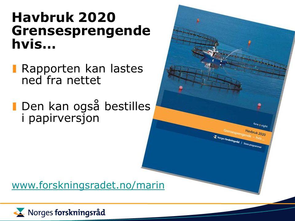 Havbruk 2020 Grensesprengende hvis…