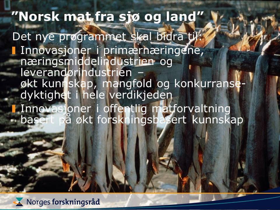 Norsk mat fra sjø og land