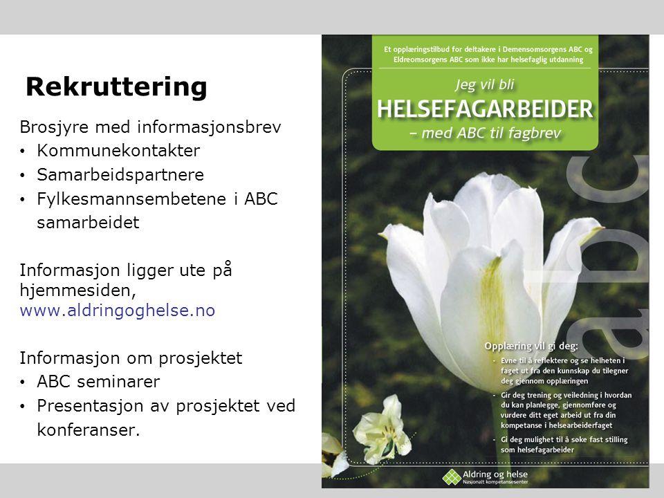 Rekruttering Brosjyre med informasjonsbrev Kommunekontakter