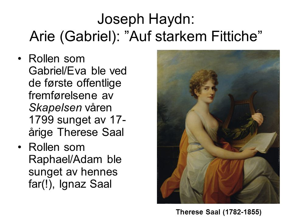 Joseph Haydn: Arie (Gabriel): Auf starkem Fittiche
