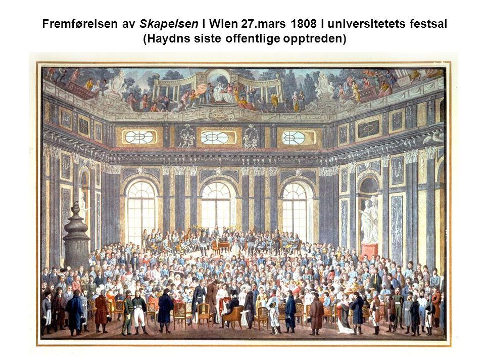 Fremførelsen av Skapelsen i Wien 27