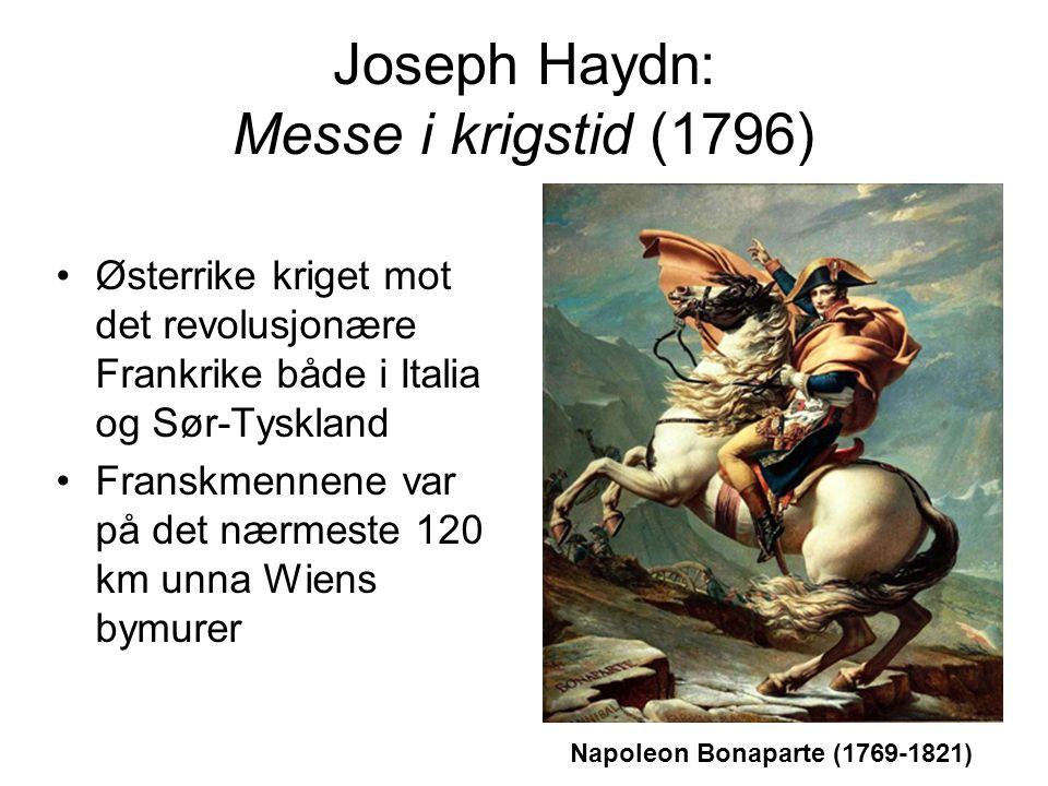 Joseph Haydn: Messe i krigstid (1796)